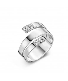 BAGUE OR BLANC & DIAMANTS
