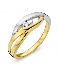 BAGUE OR BLANC/JAUNE