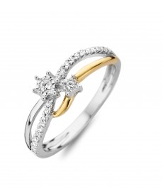 BAGUE OR BLANC/JAUNE & DIAMANTS
