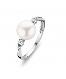 BAGUE OR BLANC PERLE