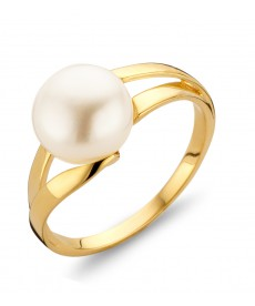 BAGUE OR JAUNE PERLE
