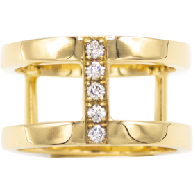 BAGUE OR JAUNE & DIAMANTS