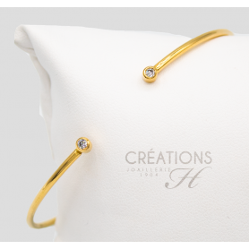 BRACELET OR JAUNE & DIAMANTS