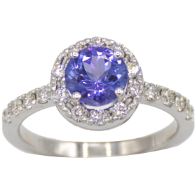 BAGUE OR BLANC & TANZANITE