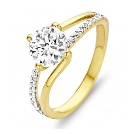 BAGUE OR JAUNE