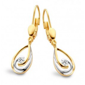 BOUCLES OR BLANC & JAUNE