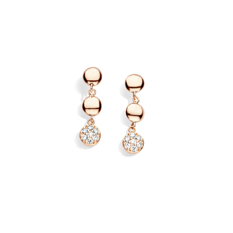 BOUCLES OR ROSE & DIAMANTS ONE MORE