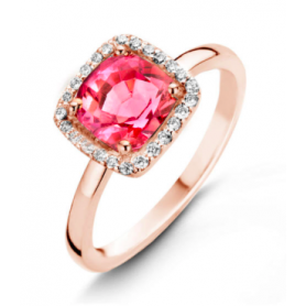 BAGUE OR ROSE & DIAMANTS ONE MORE
