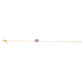 BRACELET OR ROSE AMETHYSTES