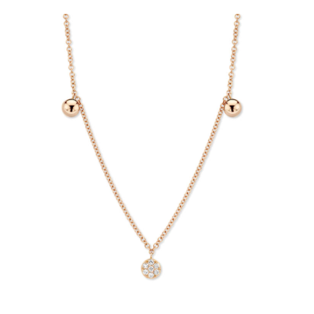 COLLIER OR ROSE & DIAMANTS ONE MORE