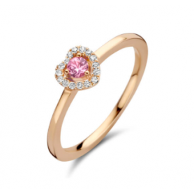 BAGUE OR ROSE SAPHIR & DIAMANTS ONE MORE