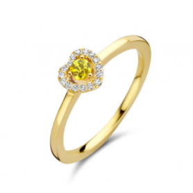 BAGUE OR JAUNE SAPHIR & DIAMANTS ONE MORE