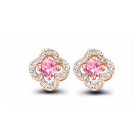 BOUCLES OR ROSE SAPHIRS & DIAMANTS ONE MORE