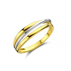 BAGUE OR JAUNE & BLANC