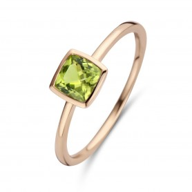 BAGUE OR ROSE & PERIDOT