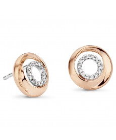 BOUCLES OR ROSE & DIAMANTS
