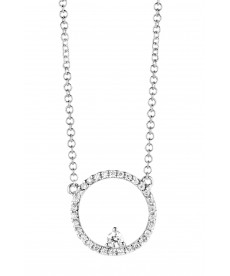 COLLIER OR BLANC & DIAMANTS