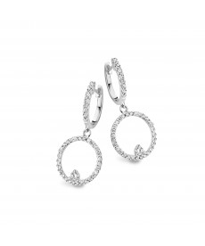 BOUCLES OR BLANC & DIAMANTS