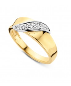 BAGUE OR JAUNE/BLANC DIAMANTS