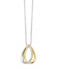 COLLIER OR BLANC/JAUNE & DIAMANTS