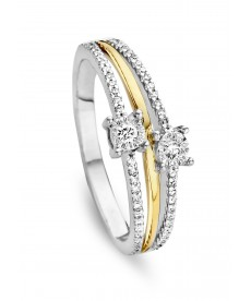 BAGUE OR & DIAMANTS