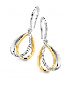 BOUCLES OR BLANC/JAUNE & DIAMANTS