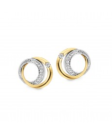 BOUCLES OR JAUNE/BLANC & DIAMANTS
